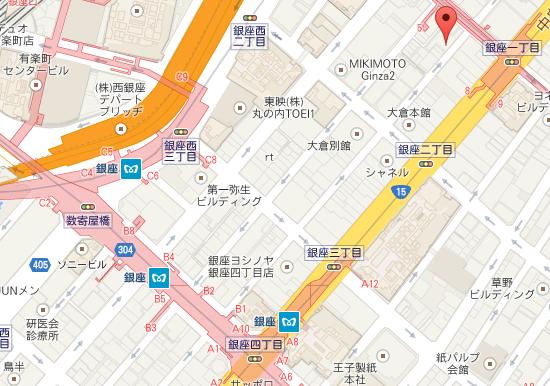 キルフェボン銀座店 MAP