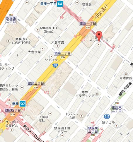 アンリ・シャルパンティエ 銀座本店 MAP