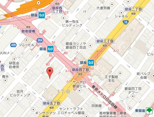 マリアージュフレール銀座店 MAP