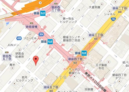 ピエールマルコリーニ 銀座店 MAP