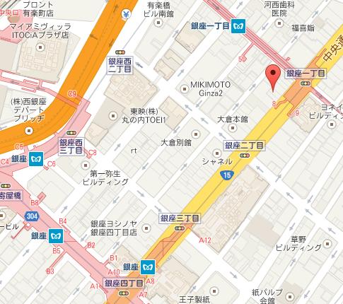 スズカフェ銀座 MAP