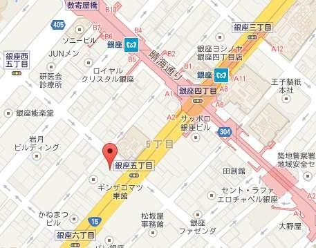 ダロワイヨ 銀座MAP