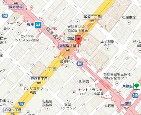 ラデュレ銀座MAP
